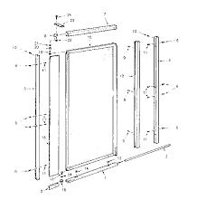 Shower Door Pivot Sears Pivot Shower Door Parts Model 392670030 Sears Partsdirect