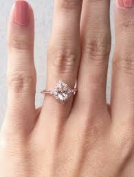 wedding ring alternatives morganite engagement ring oval morganite diamond ring