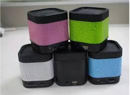 led light bluetooth speaker a7 portable mini bluetooth speakers with led light stone pattern