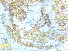 Southeastern Asia Map by 1961 Southeast Asia Map Historical Maps