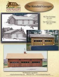 log home floor plans with garage premier log home series