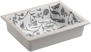 kohler botanical study rectangular undermount bathroom sink