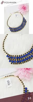 blue fashion necklace images Nwt gold fashion necklace with blue stone nwt pinterest gold png