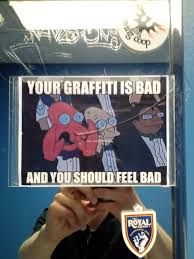 Graffiti Meme - local restaurant uses a meme to prevent graffiti in the bathroom