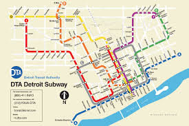 Chicago Transit Authority Map by Check Out This New Fanciful Detroit Subway Map