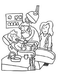 print coloring image dental dental health and montessori homeschool