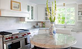 round kitchen island gray cut pile rug white wood bookcase
