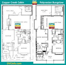 Cabin Floorplan by Dvc Files Copper Creek Villas And Cabins Details Dvcinfo Com