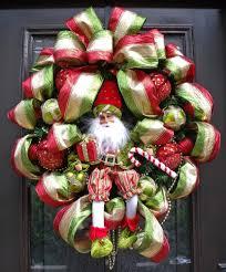 designer christmas wreath santa wreath christmas door wreath