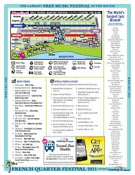 Map Of The French Quarter In New Orleans by French Quarter Festival 2011 Map Offbeat Magazine