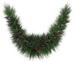 maryland pine artificial garland with pine cones unlit