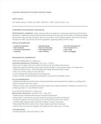 electrical maintenance experience resume building engineer sample