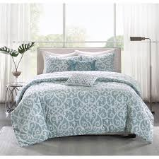 Teal Duvet Cover Madison Park Pure Lucia 5 Piece Cotton Percale Reversible Duvet
