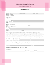 makeup contracts for weddings bridal hair and makeup contract template 21gowedding