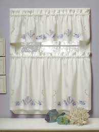 seabreeze embroidered tier curtain curtain u0026 bath outlet