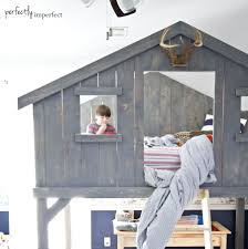 Bunk Bed Fort Boys Loft Fort Bed Diy Loft Bed Perfectly Imperfect
