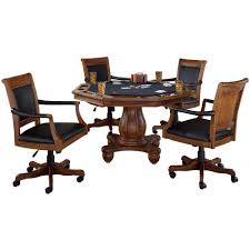 game table and chairs set hillsdale furniture kingston 5 piece cherry game table and chairs