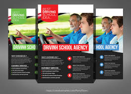 drive brochure template driving school flyer psd template by graphicsauthor templates