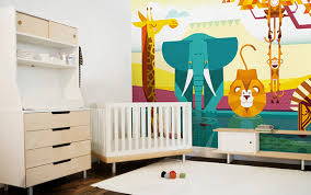 chambre jungle bébé chambre bebe fresque murale animaux jungle
