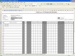 attendance calendar excel templates
