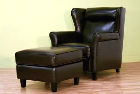 small leather chair with ottoman dark brown leather chair with ottoman furniture surprising small