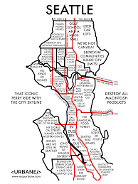 Judgemental Map Of Los Angeles Seattle Maps Curbed Seattle