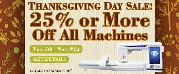 thanksgiving day sale 25 or more all machines s