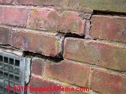 brick foundation u0026 brick wall defects u0026 failures
