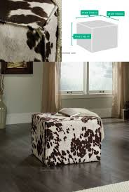 Faux Cowhide Faux Cowhide Ottoman Choices To Pick An Ottoman From Azelitehomes
