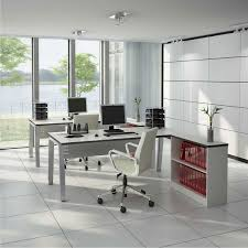 L Shape Office Table Designs Corner L Shaped Office Desk With Hutch Tapered Legs Wooden