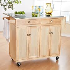 kitchen room 2017 beige wooden movable kitchen island with