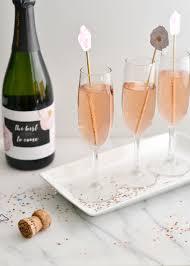 diy floral champagne cocktail stick u2014 boxwood avenue