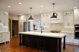 kitchen pendant lighting over island stone kitchen range wall