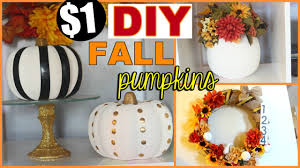 fall diy series chic dollar store pumpkins fall home decor