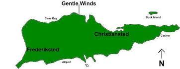 map st croix caribbean gentle winds location map st croix condo us