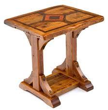 Wood And Metal End Table Wood End Table Barn Wood End Table Reclaimed End Table