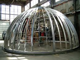 stainless steel trellis dome vulkane industrial arts