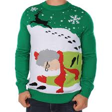 amazon com men u0027s ugly christmas sweater grandma got run over by