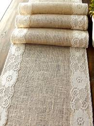 fabric for table runners wedding natural burlap table runner wedding table runner with country cream
