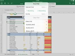 office for ipad now with presenter view pivot table interaction