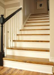 Stair Laminate Flooring Carpet To Wood Stair Makeover Reveal Simply Swider