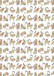 cat christmas wrapping paper wrap purpose worth etc