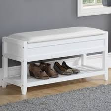Shoe Storage With Seat Or Bench - white storage benches you u0027ll love wayfair