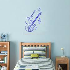 compare prices guitar name sticker decal online shopping buy creative vinyl wall stickers personalized boys name guitar decals and murals for kids room decoration