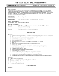 Cleaning Job Description For Resume by Cleaning Duties Resume Resume Examples For Housekeeping Best