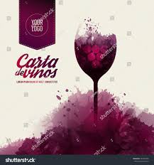 template list wine tasting illustration glass stock vector