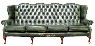 Chesterfield Sofa Antique Chesterfield 4 Seater Queen Anne High Back Wing Sofa Uk