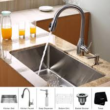 kraus kitchen combo set stainless steel 30 inch undermount sink
