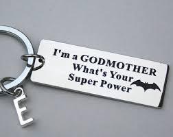 godmother keychain godmother gift etsy