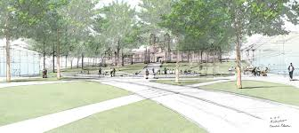 board of trustees approves plan to transform east end of danforth a conceptual view of brookings hall from the central green on the east end of the danforth campus credit michael vergason landscape architects